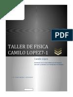 TALLER DE FISICA CAMILO LOPEZ