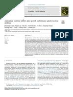 Ammonium nutrition inhibits plant growth and nitrogen uptake in citrus