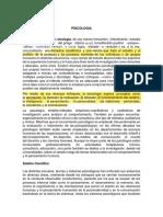 ASPECTOS GENERALES DE PSICOLOGIA