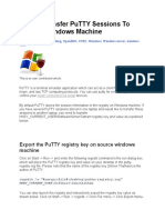 How to Transfer PuTTY Sessions To Another Windows Machine