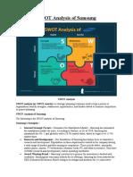 SWOT analysis and BCG matrics for samsung