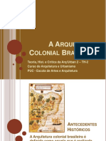 Aula15 - A Arquitetura Colonial Brasileira - Inlfuencias