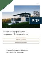 Maison écologique _ Guide complet de l'éco-construction
