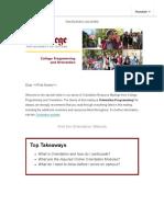 orientation resource mailing  orientation information