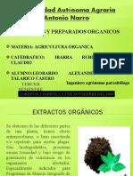 EXTRACTOS Y PREPARADOS ORGANICOS