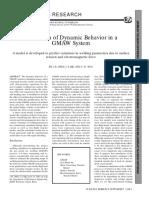 Simulation of Dynamic Behavior in a GMAW System