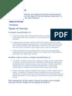 survey Techniques