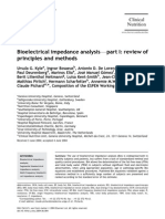 Bioelectrical impedance analysis-part I review of principle and methods