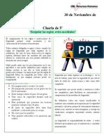 Charla 5 min - Respetar las reglas evita accidentes (Inventario Lo Boza)