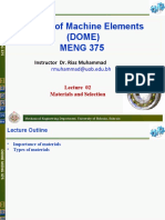 Lecture 02 Material and Selection