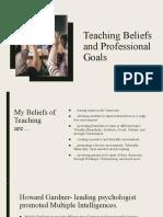 teaching beliefs and professional goals