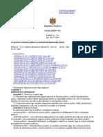 Legea 158 din 04.07.2008 cu privire la funcţia publică şi statutul funcţionarului public