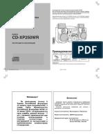 SHARP CD-XP250WR