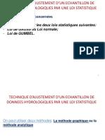 Technique d'Ajustement par loi Gumbel et Gauss