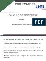 Aula 02 - Revisão _Cálculo de Reatores II 2020_2