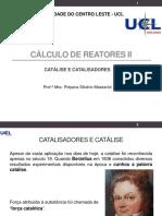 Aula 03 - Catálise e Catalisadores _Cálculo de Reatores II 2020_2