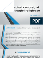 Factori concreţi ai educaţiei religioase