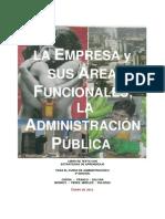 Areas Funcionales de La Empresa. Administración de Operaciones (Producción)