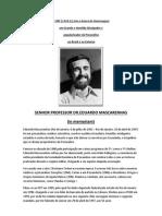 SENHOR PROFESSOR DR. EDUARDO MASCARENHAS