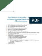 Synthèse Des Principales Exigences Réglementaires E Marocaines