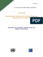 Dependencia Económica en productos básicos