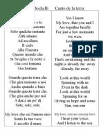 Andrea Bocelli Canto de la terra EN IT