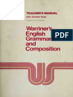 Warriner's English Grammar and Composition Teacher's Manual Complete Course. ( PDFDrive )