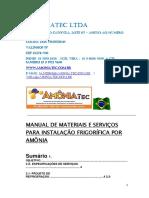 AMONIATEC - AMONIA ABRIL DE 2020 MANUAL DE INSTALAÇOES FRIGORIFICAS