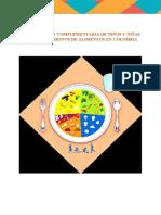 Alimentacion complementaria de niños segun los 7 grupos de alimentos en colombia
