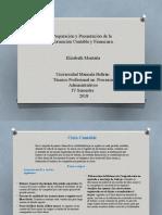 Preparación y Presentación de la Información Contable Y Financiera