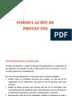 9. Formulación, cronograma, beneficios y costos