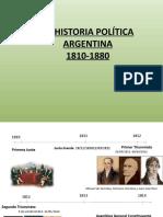 LA HISTORIA ARGENTINA 1810-1880