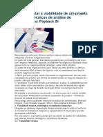 Como calcular a viabilidade de um projeto utilizando técnicas de análise de investimento.docx
