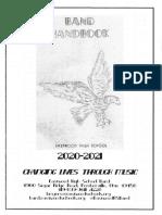Band Handbook 2020-21