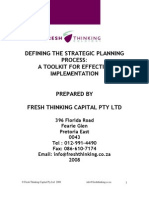 Fresh Thinking - Strategic Planning 2008