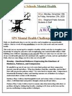 sps mental health challenge
