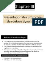 3 -Chapitre I I I   Présentation des protocoles de routage dynamique