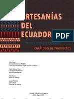 Catálogo Artesanías del Ecuador (Capítulo Primero)