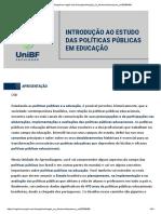 Introdução ao estudo das políticas públicas em educação