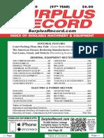 DECEMBER 2020 Surplus Record Machinery & Equipment Directory