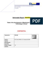 Report_Korea- Development of Membrane Science and Technology