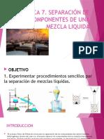 separacion delos componentes de una mezcla liquida