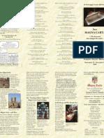 US La Magna Carta England Brochure