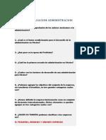 ADMINISTRACION  CUESTIONARIO