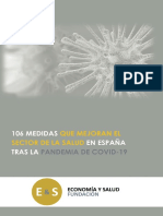 Libro 106 Medidas Que Mejoran El Sector de La Salud en España Tras La Pandemia Covid19