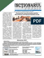 """ZIarul """"Funcționarul public"""" nr. 21 (586) noiembrie 2020"""