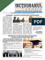 """ZIarul """"Funcționarul public"""" nr. 19 (584) octombrie 2020"""