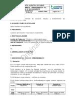 P01808 OPERACION LIMPIEZA Y MANTENIMIENTO DEL  BOMBO RECUBRIMIENTO