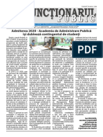 "ZIarul ""Funcționarul public"" Nr. 15-16 (580-581) august 2020"