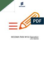 LZU1082348 WCDMA RAN W16 Operation